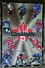 NHL Hockey 1997 Joseph Yzerman Gretzky Lindros Brodeur Sakic Kariya Poster VG