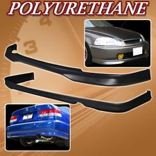 FOR 96-98 CIVIC 2DR 4DR T-R URETHANE PU FRONT REAR BUMPER LIP SPOILER BODY KIT