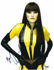 Malin Akerman Signed 8.5x11 Photo *Watchmen PSA Y50845