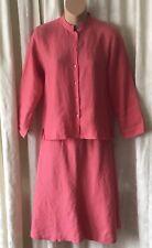 Eileen Fisher Linen Long Sleeve Button Blouse & Skirt 2 Piece Set SZ XS New