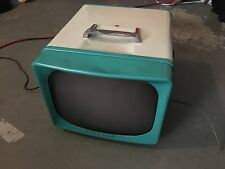1958 General ElectricTurquoise/White Retro Vintage Tube TV for PARTS/PROP AS IS!