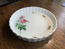 "Christineholm Bakeware 9.5"" Fluted Quiche Tart Pie Dish Pan Pink Rose"