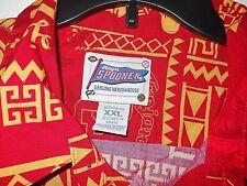 REYN SPOONER Shirt HAWAIIAN Size XXL Trojans SC SOUTHERN CALIFORNIA USC red Palm