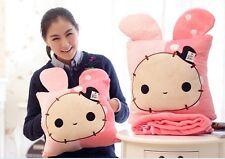 San-X Sentimental Circus Rabbit Hand-warmer+Cushion+Big Blanket 3 In 1 Cute gift