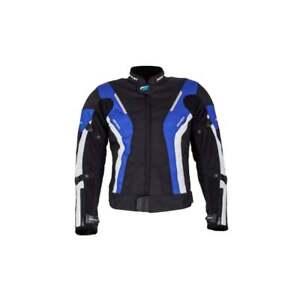 Spada curve ladies Motorcycle Jacket Waterproof Textile  - Black/Blue