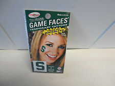 2 Michigan State Spartans Game Faces Temporary Tattoos. 2 different packs MC50