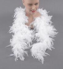 WHITE  FEATHER BOA  80 GRAMS HIGH QUALITY  BURLESQUE HEN NIGHT DANCE FANCY DRESS