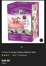 Jumbo Party Helium Tank With Balloons And Ribbons NiB New In Box