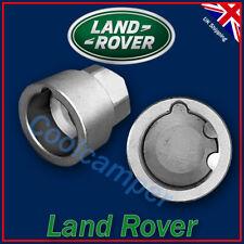 Land Rover Discovery y defensor de acero inoxidable con tapa de Aleación Tuercas De Rueda Set X5
