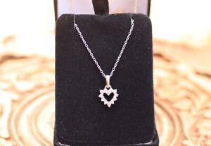 Tour de cou or blanc Coeur diamanté