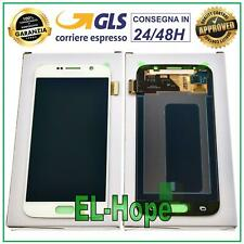DISPLAY LCD ORIGINALE SAMSUNG GALAXY S6 SM-G920F G920 TOUCH SCREEN VETRO BIANCO