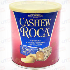 Cashew Roca Buttercrunch Toffee Chocolate Candy 10 OZ Can Brown and Haley
