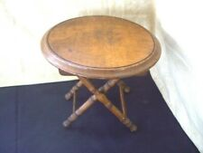 Vintage 1970's Small Wood Folding Cross Leg TABLE/ Plant Stands~ folds flat