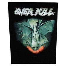 Xlg Overkill For Those Who Bleed Metal Music Woven Back Jacket Patch Applique
