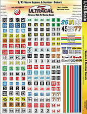 MG3201 - 1/43 UltraCal High Def Decals Squares & Numbers