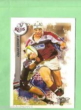 2003  RUGBY UNION CARD #55  DAVID CROFT,  QUEENSLAND REDS