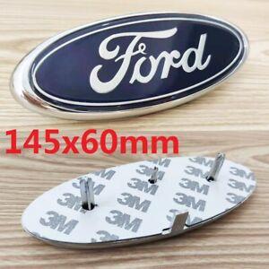 Ford Badge Oval Blue/Chrome  Front/Rear Emblem Focus Mondeo Transit 145x 60mm