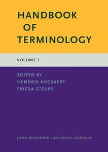 Handbook of Terminology by John Benjamins Publishing Co (Hardback, 2015)