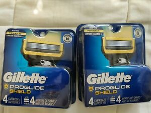 Gillette PROGLIDE SHIELD Refill Blades 8 Cartridges, Brand New,