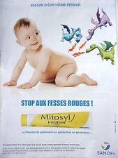 page de publicité MEDICAMENTS  POMMADE MITOSYL   en 2012  ref. 43781
