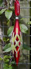 WATERFORD HOLIDAY HEIRLOOMS LISMORE RED SPIRE CHRISTMAS DECORATION