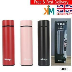 LED Display Smart Water bottle- Vacuum Insulated Flask  Stainless Steel Thermos