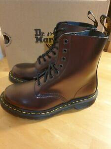 Dr.Martens 1460 Pascal Chroma Cherry Red Metallic Boots Uk4 Eu37 Brand New