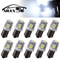 10 Pcs Pure White T11 BA9S-5SMD 5050 LED  High Power LED Light Bulb Car DC 12V