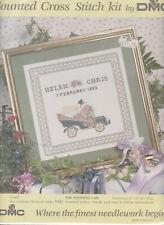 DMC THE WEDDING CAR CROSS STITCH KIT 1993 KIT