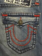 TRUE RELIGION RICKY W/FLAP SUPER-T MEN JEAN PALE HORIZON M859NAAJ NWT 36W $329
