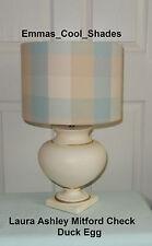 New Handmade Lampshade Laura Ashley Mitford Check Duck Egg Bespoke tartan Drum