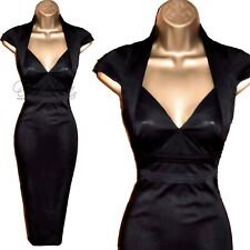 🎀 Karen Millen impresionante Negro Galaxy Cóctel Vestido Reino Unido 12 RRP £ 165 Boda