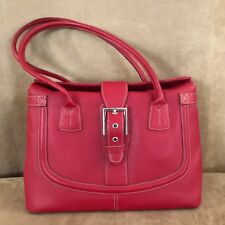Cristian Italy Handbag red leather purse bag shoulder tote retail $218