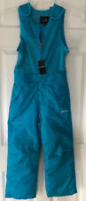 stevies snow pants suit for kids  girls with pockets. Aqua Small