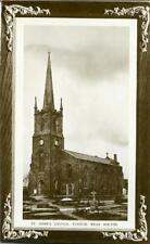 REAL PHOTOGRAPHIC POSTCARD OF TURTON CHURCH, (NEAR BOLTON), LANCASHIRE