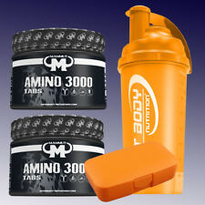 39,41€/kg) Mammut Amino 3000 2 x 300 Tabletten + Shaker u. Pillenbox in Orange