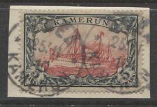 1900 German colonies Cameroun 5 Mark used on piece - BUEA - $ 701.00