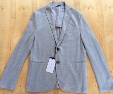 NEW Zara Man Gray Stretchy Knit Slim Fit Blazer Size 44 NWT H1