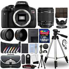 Canon t6i / 750d Cámara Réflex Digital + 18-55mm Is Stm 3 Lente Kit + 32 Gb Mejor valor Kit