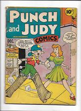 PUNCH & JUDY COMICS VOL.3 #2 [1947 VG-] JACK KIRBY ART!