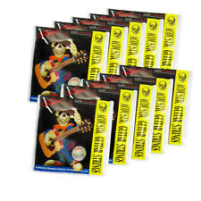 10 Sets of Acoustic Guitar Strings Stainless Steel & Coated Copper Light Style