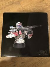 More details for star wars - gentle giant - republic commando - sev - mini bust- rare & signed