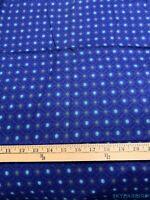 3.3Yds  Mini Floral and Diamond Pattern Royal Blue Rayon Challis Fabric