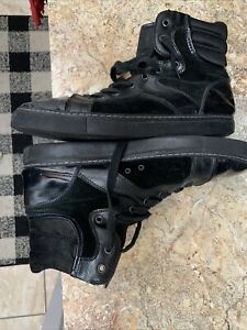 Lanvin Hi-Top Leather Sneakers Shoes Sz 12 Us  Made in Italy Used/clean