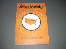 Nationwide Dialing booklet Birmingham Michigan Bell 1953 Area Codes 32 pgs