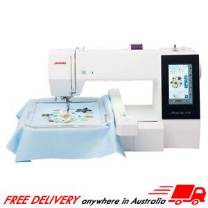 Janome Memory Craft 500E Embroidery Machine USB Design Hoop Monogramming MC500E