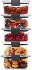 Rubbermaid Leak-Proof Brilliance Food Storage Set | 1.3 Cup Plastic Containers w