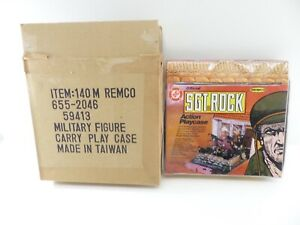 Official SGT ROCK ACTION PLAYCASE PLAYSET CARRYING Case 1981 Remco DC Comics