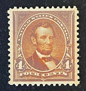 US Stamps, Scott #280b 1898 4c Lincoln 2006 PSE Cert GC XF/S 95 M/NH. CHOICE!