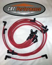 Small Block Chevy 55-89 305,327,350,400 HEI RED Spark PLug Wires under Exhaust